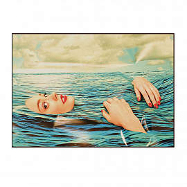 "Ковер Seletti Rectangular Rug ""Sea Girl"""