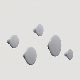 Вешалки MUUTO The Dots, серые